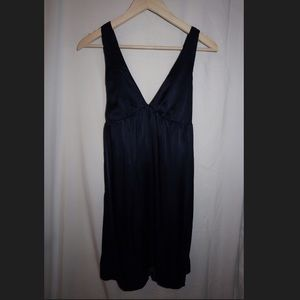 Graham & Spencer Navy Silk Dress